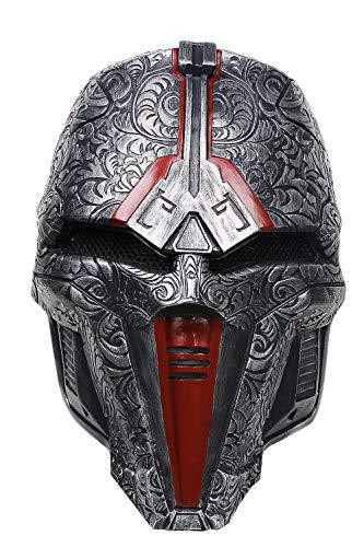 Xcoser Cosplay Kostüm Maske Dunkel Grau Harz Helm Film Verrücktes Kleid Replik für Erwachsene Halloween Zubehör