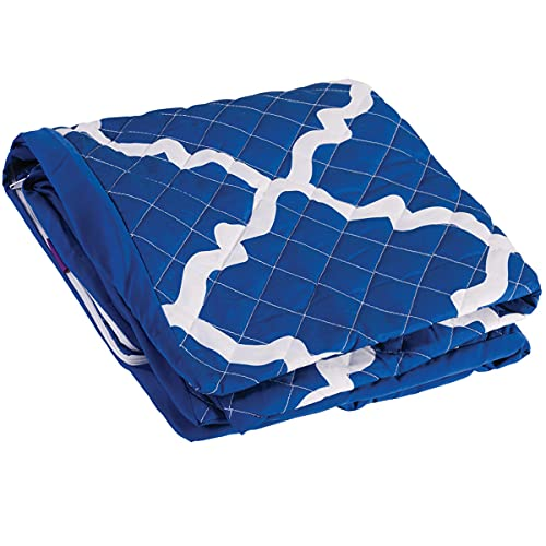 HealthSmart Pillow Cover for Bed Wedges that is Ultra Soft, Hypoallergenic and Zippered with Spill Protection, Fits 12 x 24 x 24 inch Wedges, Blue Moroccan