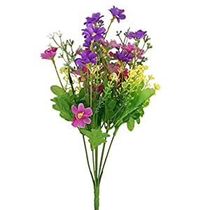 LeAsuStore a bundle fake cineraria artificial bouquet home office oration blue oration ranunculus orchid or birthday bouquet pink characters wedding greenery vase flowers supp