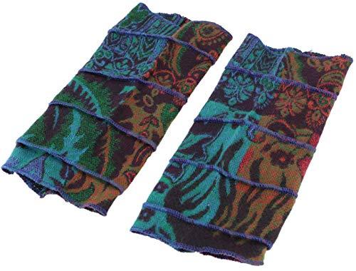 Guru-Shop Patchwork Handstulpen, Ethno Goa Armstulpen, Herren/Damen, Türkis/pink, Synthetisch, Size:One Size, Handstulpen Alternative Bekleidung