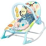 RELAX4LIFE 3 in 1 multifunktionale Babywippe, Babyschaukel mit Vibrationsmodi & Musik, Babywiege mit abnehmbarem Spielbogen & Sitzbezug, bis 18kg belastbar, Süße Geschenk für Baby & Kleinkinder (Blau)