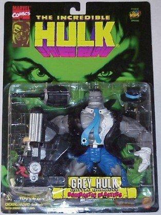 The Incredible Battle Damaged Hulk Grey Hulk Action Figure by Marvel Comics