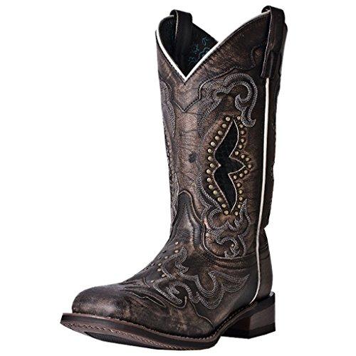 Laredo womens Spellbound boots, Black/Tan, 9 US