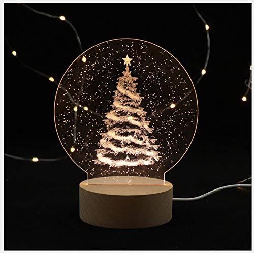 Tischlampe Nachttischlampe Kreatives geführtes Weihnachtsbaum-Geschenklicht der Nachtlicht-Inneneinrichtung 3D des Miniweihnachtsgeschenks
