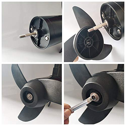 U-BCOO Propellers Electric Outboard Motor Prop for 55lb, 62lb, 86lb Electric Trolling Motors Mount Accessories/Boat 3-Blades Propellers