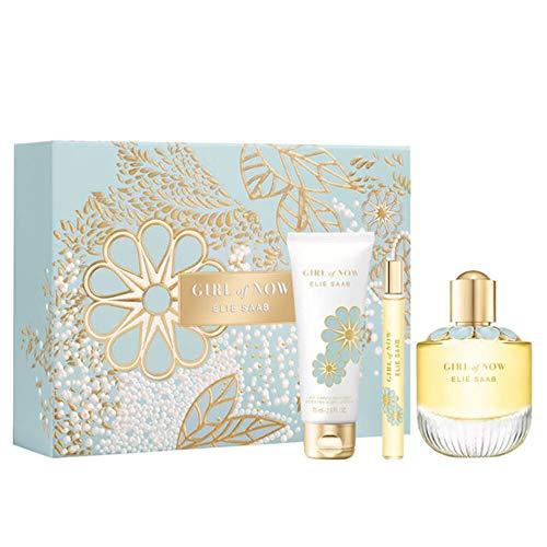 Elie Saab Girl Of Now Eau De Parfum 90ml + Leche Corporal 75ml + Eau De Parfum 10ml 250 G, One size, 90 ml