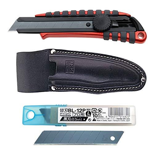 NTカッター PMGL-EVO1+BL-12P+HL-13P プレミアムカッター+替刃+皮革ケース 取寄品 62599295