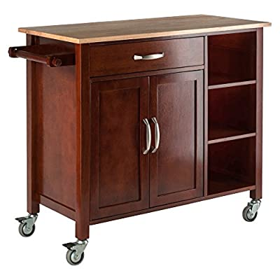 Winsome Mabel Kitchen, Walnut/Natural from Winsome Trading