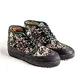 HAOLIN Scarpe da Allenamento in Gomma Resistenti all'Usura Invernali Scarpe Alte Scarpe in Cotone Scarpe da Allenamento Militari in Lana,Green-44