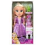 Jakks Pacific Disney Princesa Rapunzel Nuevo Modelo Ojos Brillantes 35cm y Set de Té con Pascal