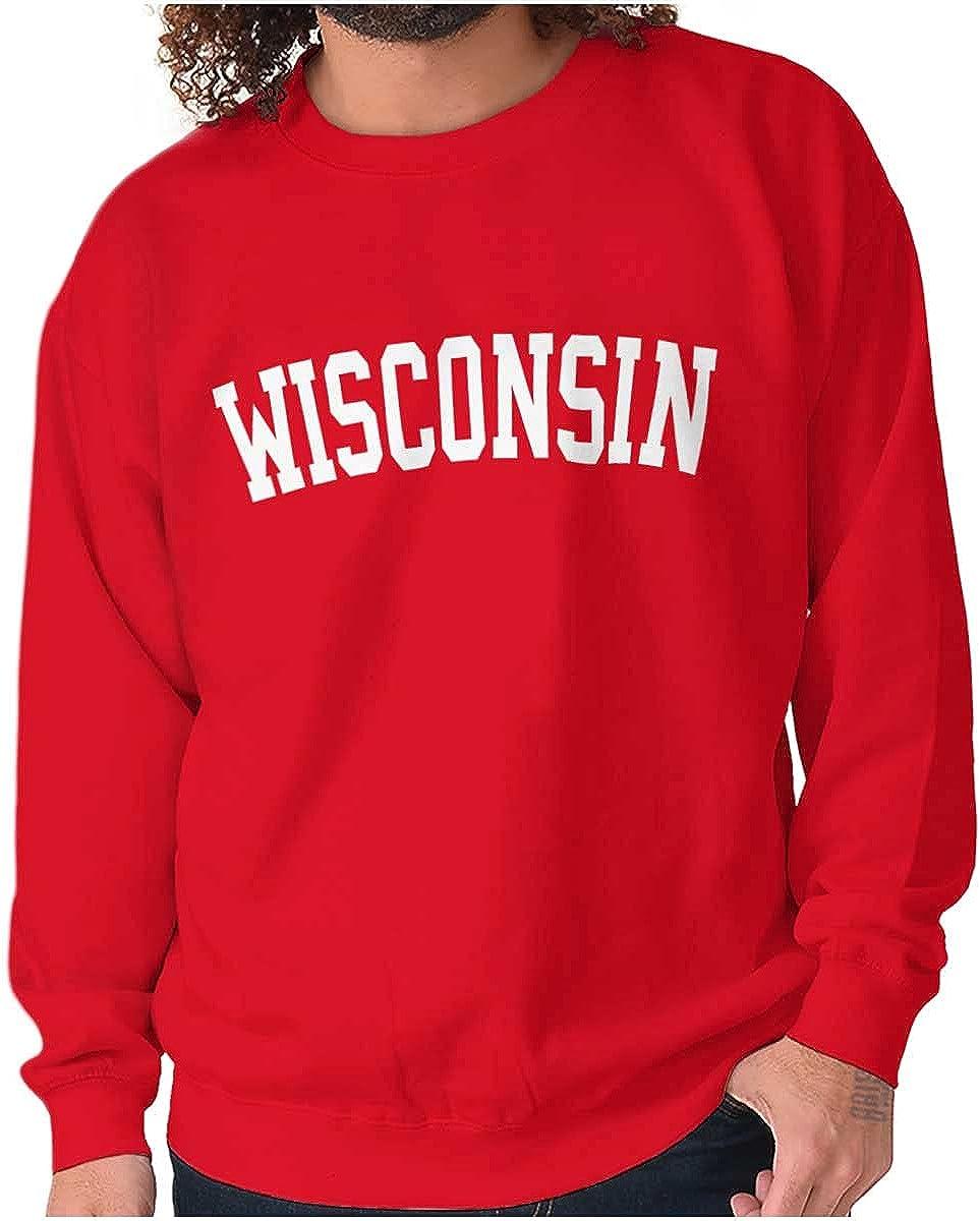 Wisconsin Simple Traditional Classic Sweatshirt for Men or Women