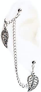 (1)Double Piercings Chained Earrings Set
