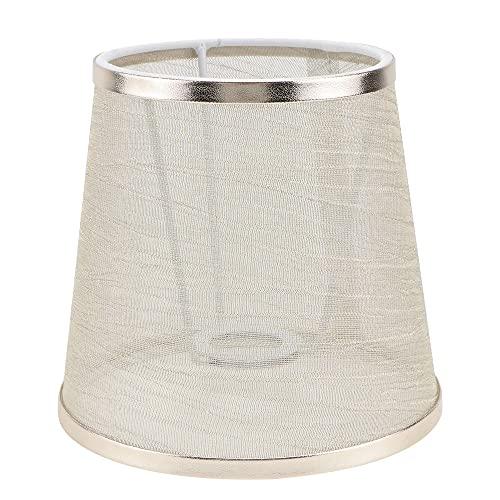 WNAVX 1pc Hogar Lampshade Lámpara Decorativa Cubierta de lámpara de Tela de araña (Color : Golden, Size : 15X15CM)