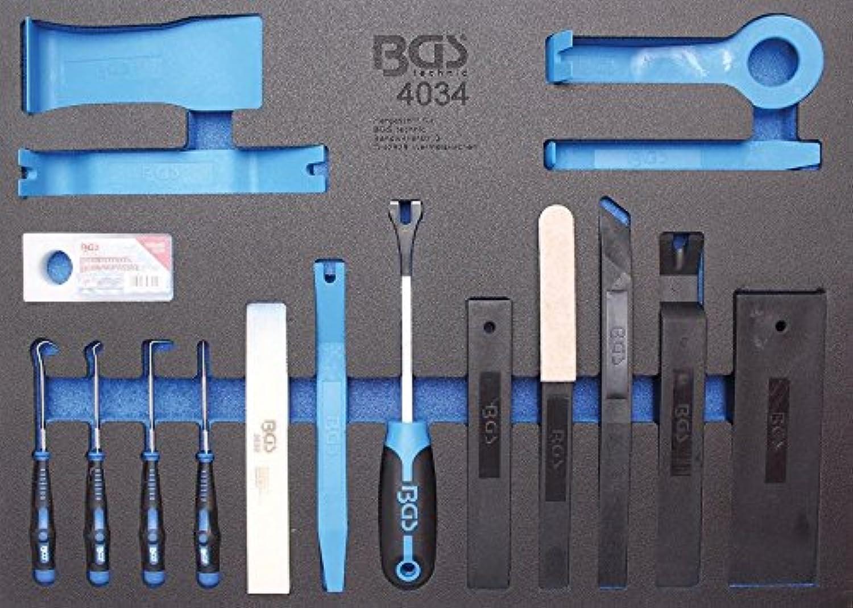 BGS 4034 3 3 Werkstattwageneinlage  Lsewerkzeuge, Montagekeile und Hakensatz, 17-tlg.