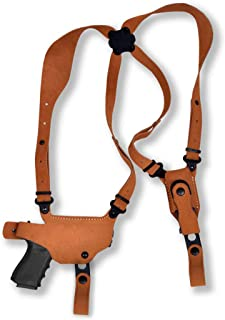 Premium Suede Leather Shoulder Holster with Single Carrier Fits, Smith Wesson Model 3913 Ladysmith 9mm 3.5''BBL, Right Hand Draw, Brown Color #1397#
