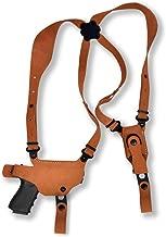 Premium Nubuck Leather Shoulder Holster with Single Magazine Carrier, CZ 75, CZ 75B, CZ 85, CZ 75 P01, CZ 75 P06, CZ 75 P07, CZ 75 SP01, CZ 75 P01, Right Hand Draw, Natural Color (CZ 75 P-01) #1024#
