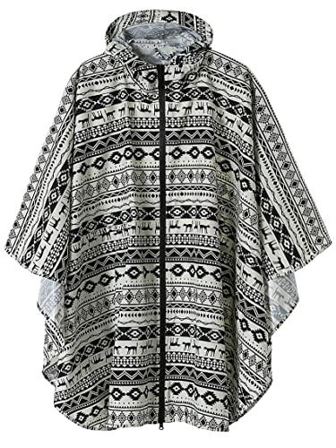 Summer Mae Regen Poncho Jacke Mantel für Erwachsene mit Kapuze wasserdicht mit Reißverschluss im Freien,Einheitsgröße,Hund