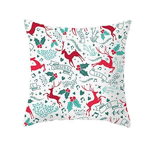 Aimsie Fundas de cojín con diseño de renos para niños, de poliéster y algodón, 40 x 40 cm