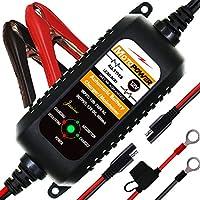 🔥【Compact, intelligent et durable】-Il peut charger tous les types de batteries au plomb-acide de 12V, y compris les batteries sans entretien noyées ou scellées (AGM et cellule de gel). C'est le meilleur chargeur intelligent pour l'automobile, la moto...