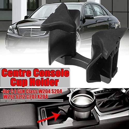 YMYGCC Getränkehalter W204 Car Center Console Wasser Cupholdereinsatz Divider-Brett for Mercedes for Benz C E GLK-Klasse W204 S204 W212 S212 C207 X204 (Color : Black)