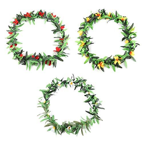 HERCHR 3 guirnaldas de Flores Hawaianas, Guirnalda de Flores Artificiales para Decoraciones de Fiestas Tropicales, 26 Pulgadas