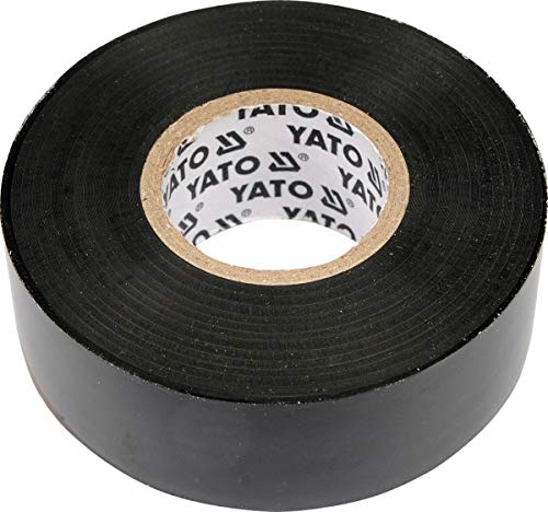 YATO YT-8152 - cinta de aislamiento eléctrico de PVC 0.13mm 12mmx10m negro