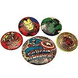 Pyramid International Set chapas Marvel - Chapas Capitán America retro, Multicolor, 10 x 12.5 x 1.3 cm