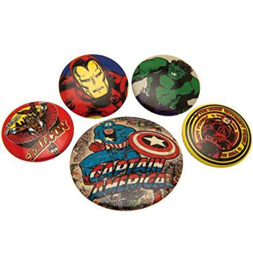 Set chapas Marvel - Chapas Capitán America retro