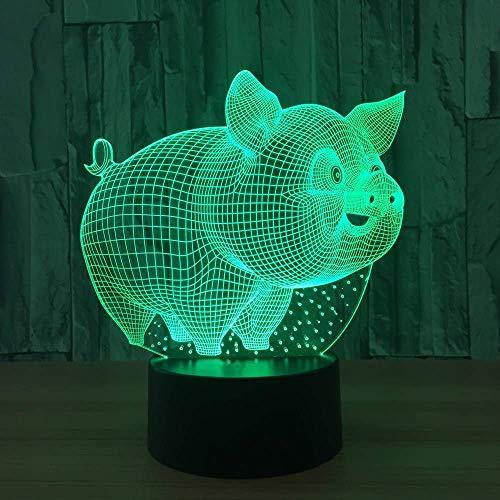 Cutely 3D Little Pig Modèle Lampe de Table Led Usb Bébé Sommeil Veilleuses Mode Chambre Chevet Décor Éclairage De Noël Enfants Cadeaux