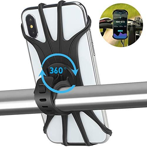 "APSONAR 2020 Nuevo Soporte Movil Bicicleta, Teléfono Soporte para Bicicleta, 360° Rotación Motocicleta Soporte Universal Manillar para 4""-5.8"" teléfono Inteligente (B-16)"
