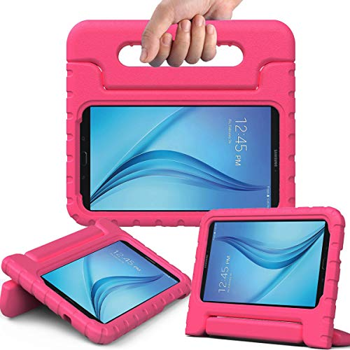 AVAWO Kiddie Case for Samsung Galaxy Tab E Lite 7.0' - Shockproof Case Light Weight Kids Case Super Protection Cover Handle Stand Case for Children for Samsung Galaxy Tab E Lite 7-Inch Tablet, Rose