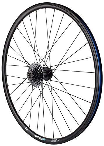 700c Rear Wheel +7 Speed Shimano Cassette Hybrid/Mountain Bike QR Disc Brake 32H Black