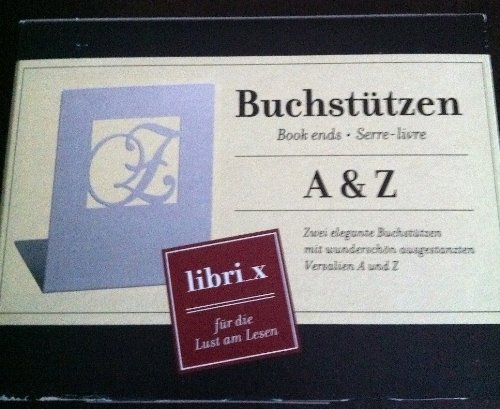 Moses 81645 libri_x Buchstützen A & Z weiße Edition