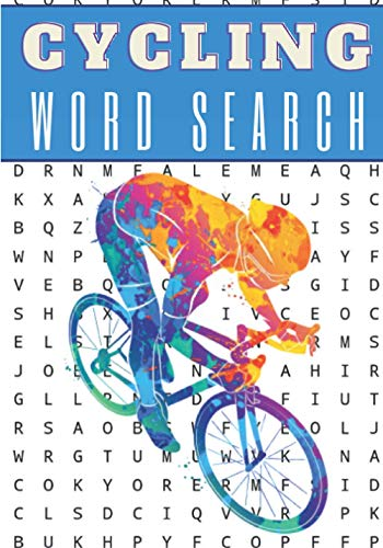 Cycling Word Search: 60 puzzles | Challenging Puzzle Brain book For Adults and Seniors | More than 400 words about Bicycle, Biking, Bike and Cycling | ... Gift for Cyclist | Training brain with fun.