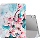 MoKo Case Fit New iPad Air 4th Generation 2020 - iPad Air 4 Case 10.9 inch Slim Lightweight Shell Stand Cover with Translucent Frosted Back Protector for iPad Air 4, Auto Wake/Sleep,Peach Blossom