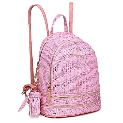 Miss LuLu Schulrucksack Damen Daypack Damentasche 2018 Outdoor Rucksack Schulranzen (LT1763-Pink)