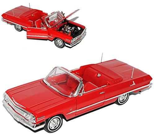 Welly Chevrolet Impala Cabrio Rot 1963 Oldtimer 1/24 Modell Auto