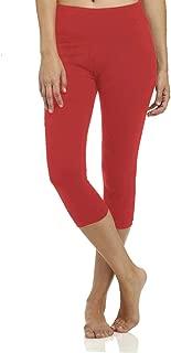 High Waisted Soft Capri Leggings for Women-Tummy Control and Elastic Opaque Slim-One/Plus Size 20+Design