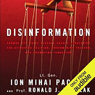 Disinformation audiobook cover art