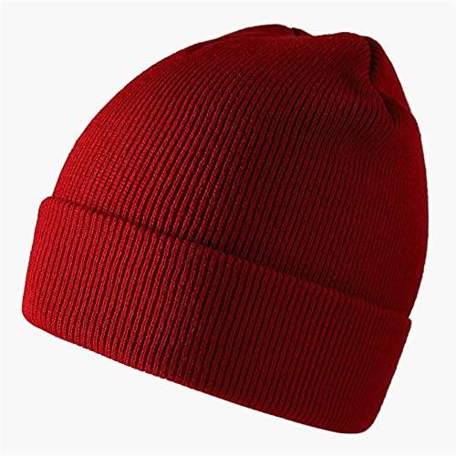 Gorro Capas DE Color SÓLIDO GORRIOS Hombres Hombre GORNIO GORNIO Unisex Hecho Hight Hats SANDULIES Cap Clásico (Color : Wine Red, Size : One Size)