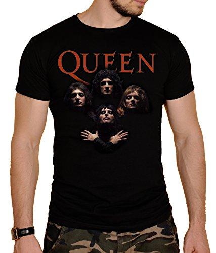 Queen Herren T-Shirt Schwarz Schwarz  Gr. XXL, Schwarz