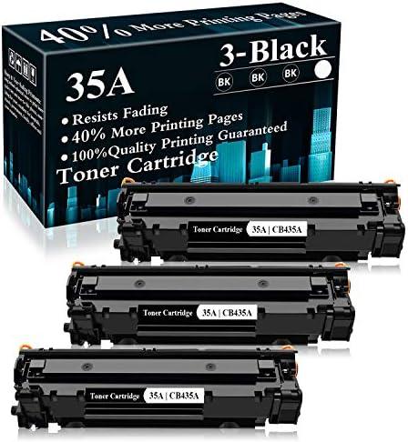 3 Black 35A CB435A Toner Cartridge Replacement for HP Laserjet P1002 P1003 P1004 P1005 P1006 product image