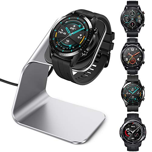 CAVN Ladegerät Kompatibel mit Huawei Watch GT/GT 2 /GT 2e /Honor Magic Watch 2 /Honor Watch GS Pro Ladestation, (130cm/4.2ft) USB Aluminium Ladekabel Schnellladegerät Lade Dock für gt/gt 2/gt 2e