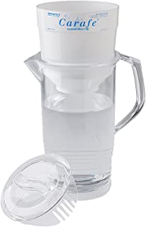 Aquaspace Carafe plus Fluoride & Heavy Metal Reduction Water Filter Pitcher - 250 Gallons - Portable - BPA Free - 60oz. – Clear