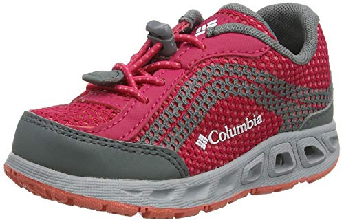 Columbia Youth Drainmaker IV, Chaussures de Sports aquatiques, Rose (Bright Rose, Hot Coral 600), 26 EU