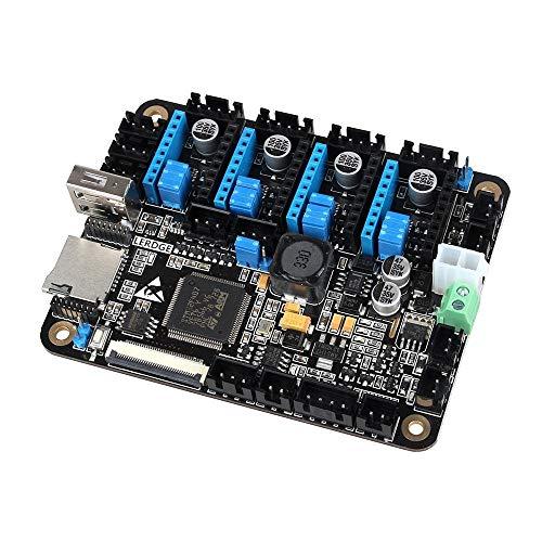 Carte contrôleur intégré Avec Mainboard écran tactile LCD 3,5 pouces + 32 bits Coretx-M4 de base Unité de contrôle + 4PCS blanc TMC2100 Pilote moteur for Stepper Reprap imprimante 3D Module
