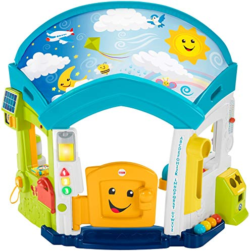 Fisher-Price Laugh & Learn Smart Learning Home, Interactive Infant Playhouse – Bilingual Edition
