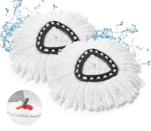 Natseekgo Wischmopp Ersatzkopf 2er Set - für Vileda Wischmopp Ersatzkopf EasyWring & Clean-Extra Dicke Fasern Ohne Ausfransen,Langlebig und perfekte Passform