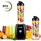 Aicok Mini Blender, Smoothie Blender avec 600ml Bouteille Tritan, Sans BPA, Smoothie...