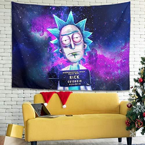 Ballbollbll Rick Eyes - Tapiz espacial letárgico colorido para colgar en la pared para dormitorio, sala de estar, color blanco 40 x 59 pulgadas
